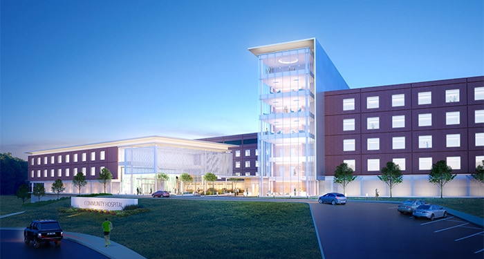 Consolidating two hospitals into one campus