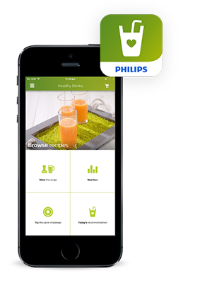 Philips Juice och Smoothies recept-app