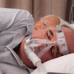 Fullface sleep apnea mask helping a patient get restful sleep